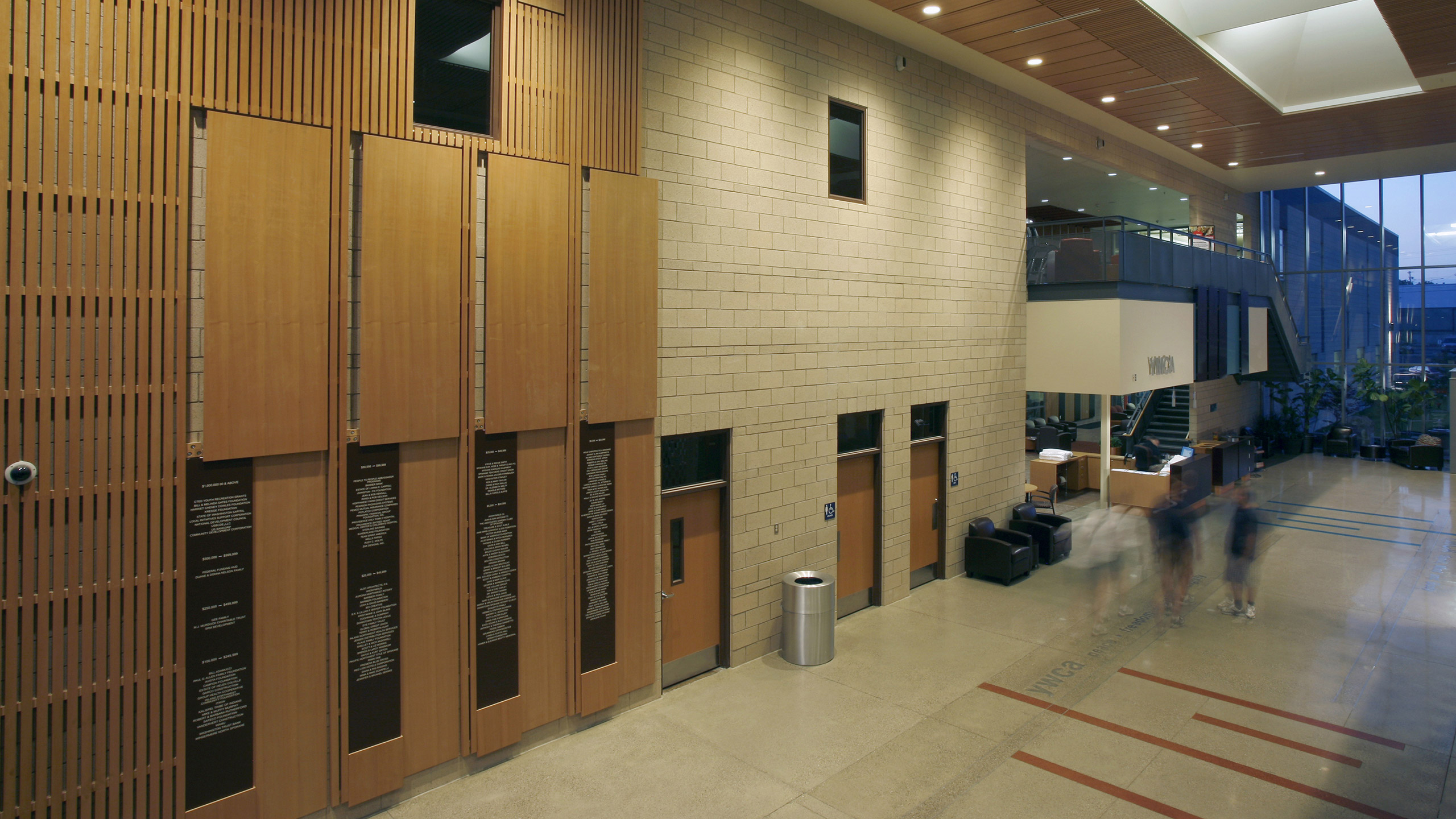 ALSC Architects YMCACentral Lobby