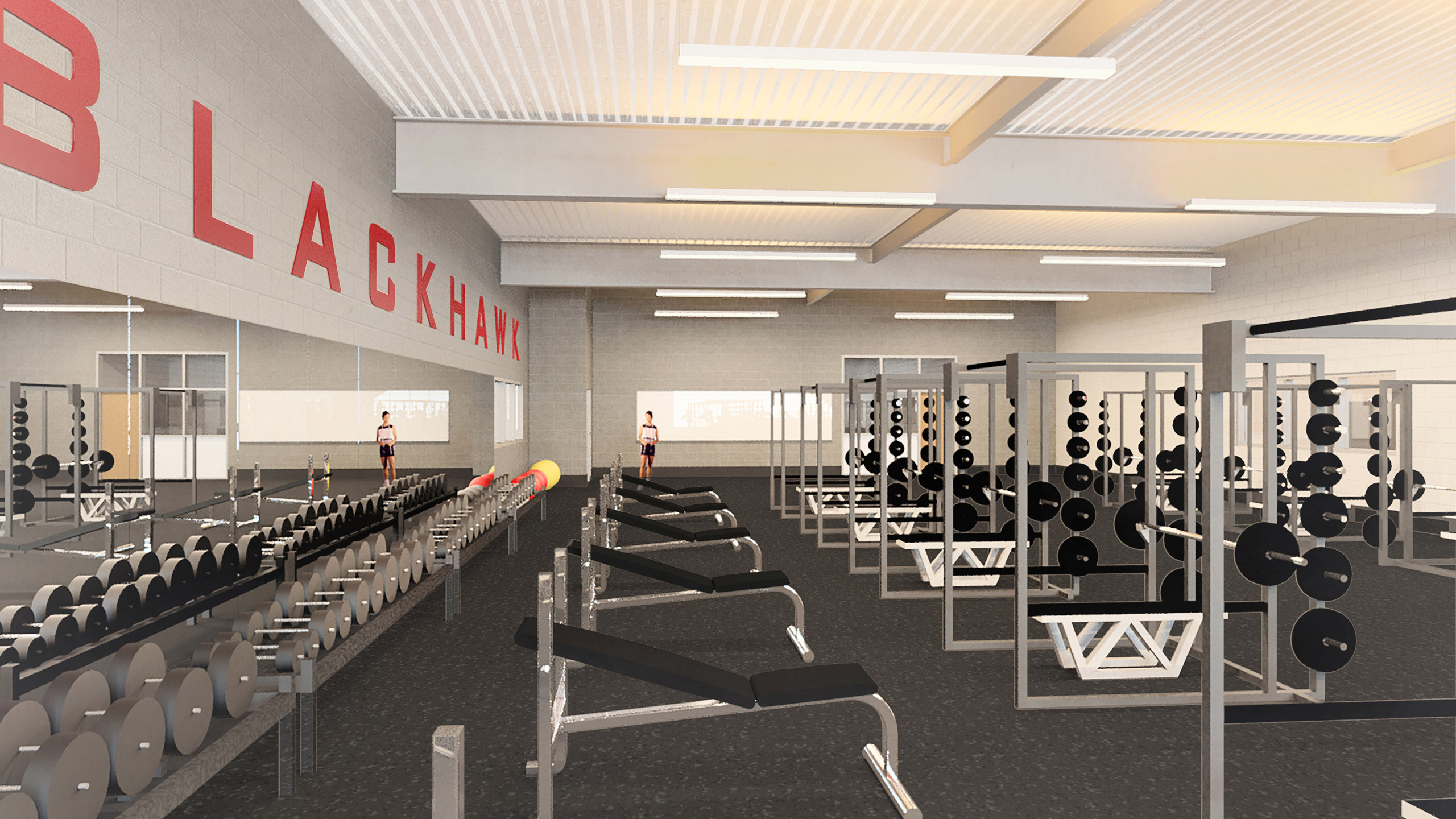 ALSC Architects CheneyHS WeightRoom