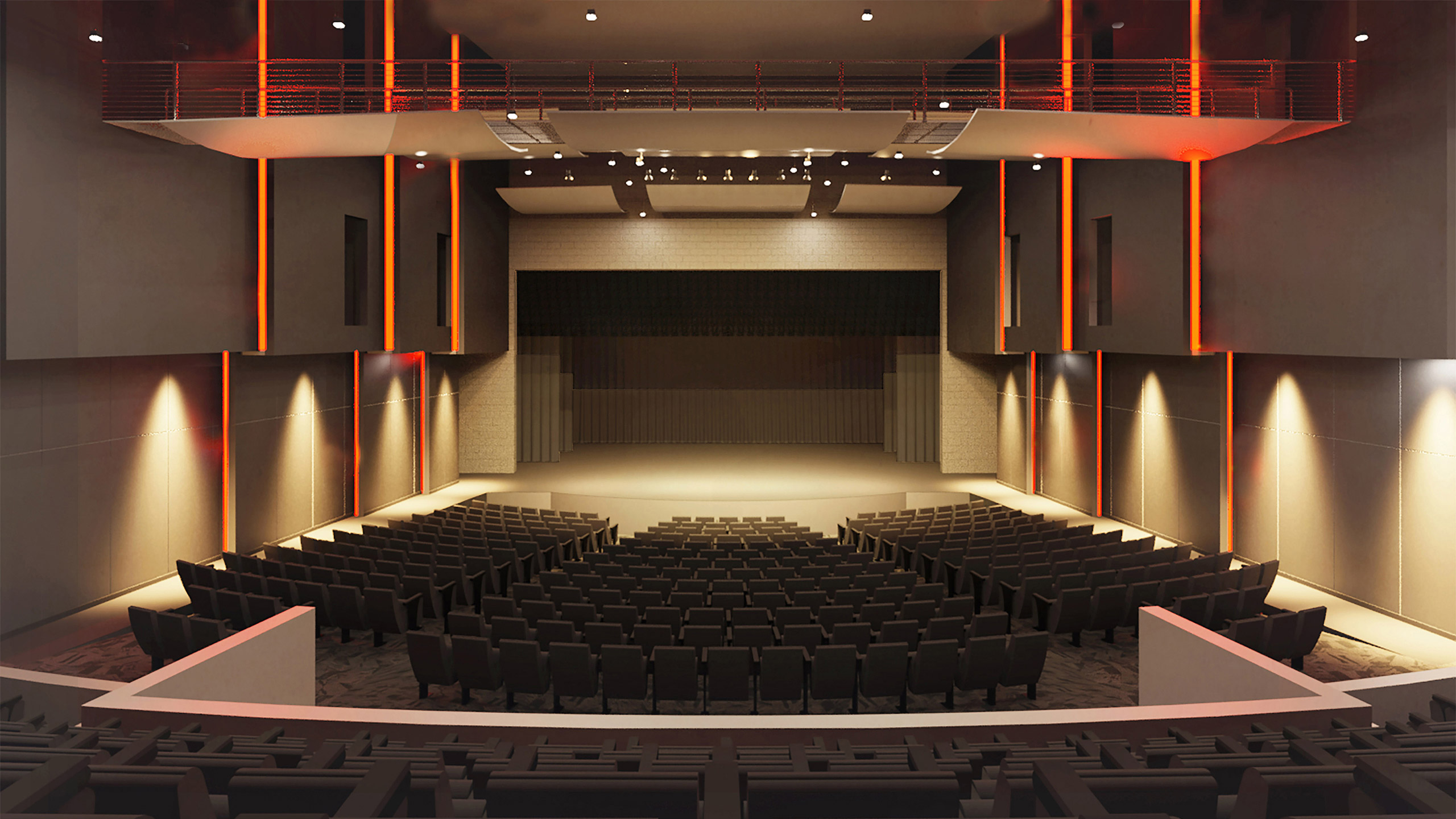 ALSC Architects CheneyHS Auditorium