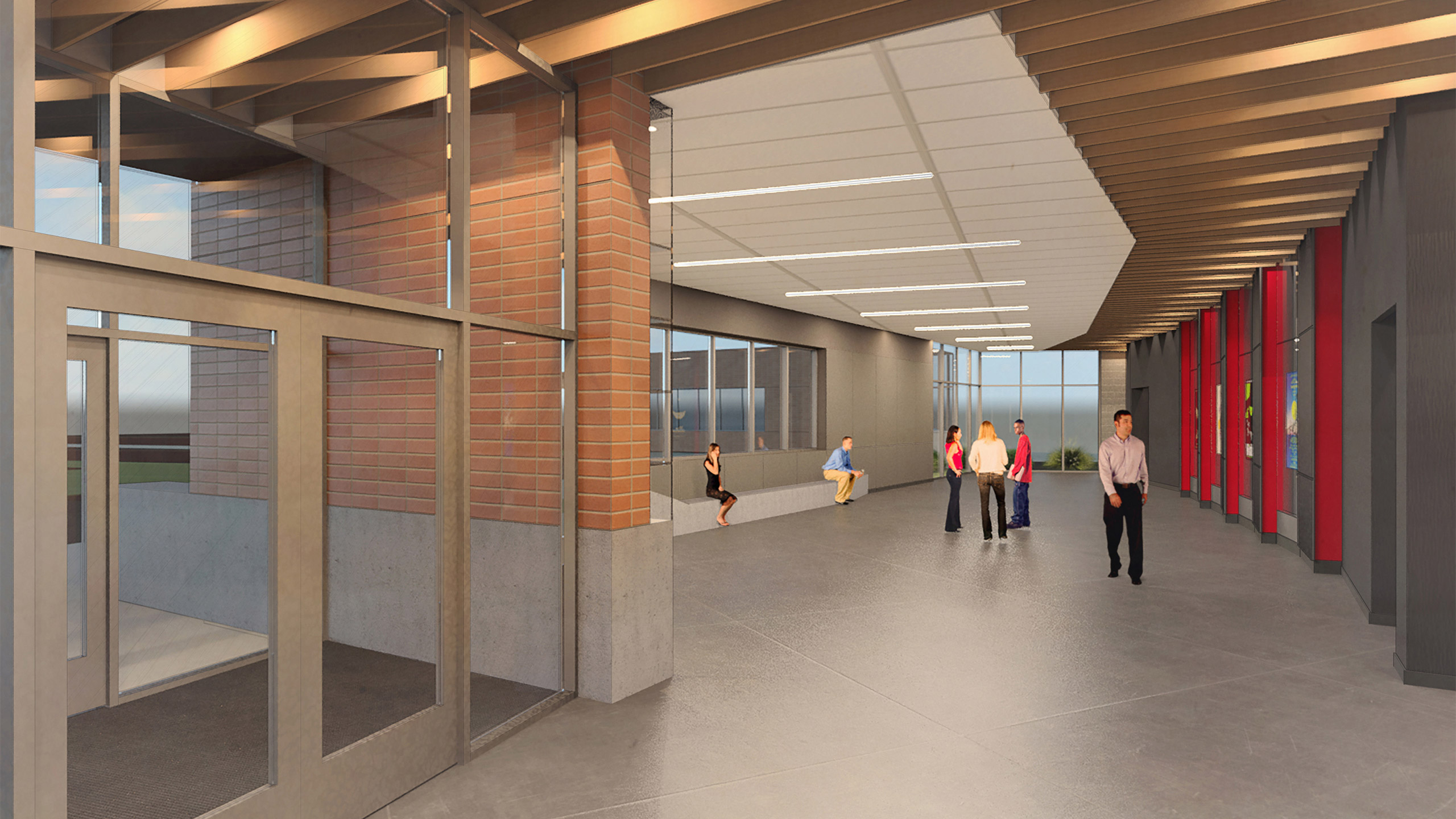 ALSC Architects CheneyHS AuditLobby