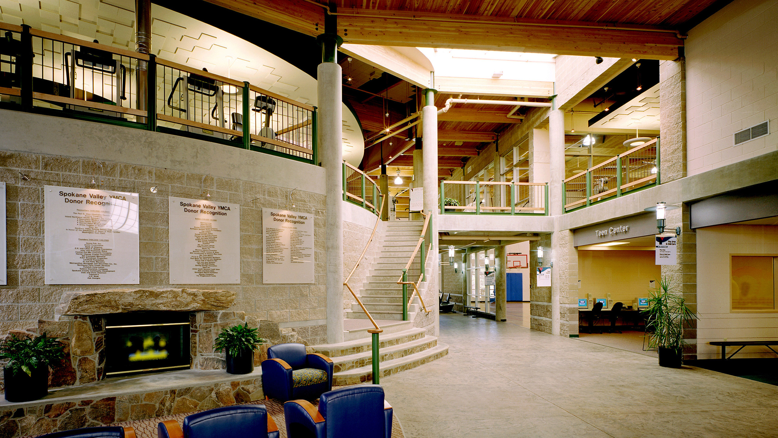 ALSC Architects YMCAValley Lobby