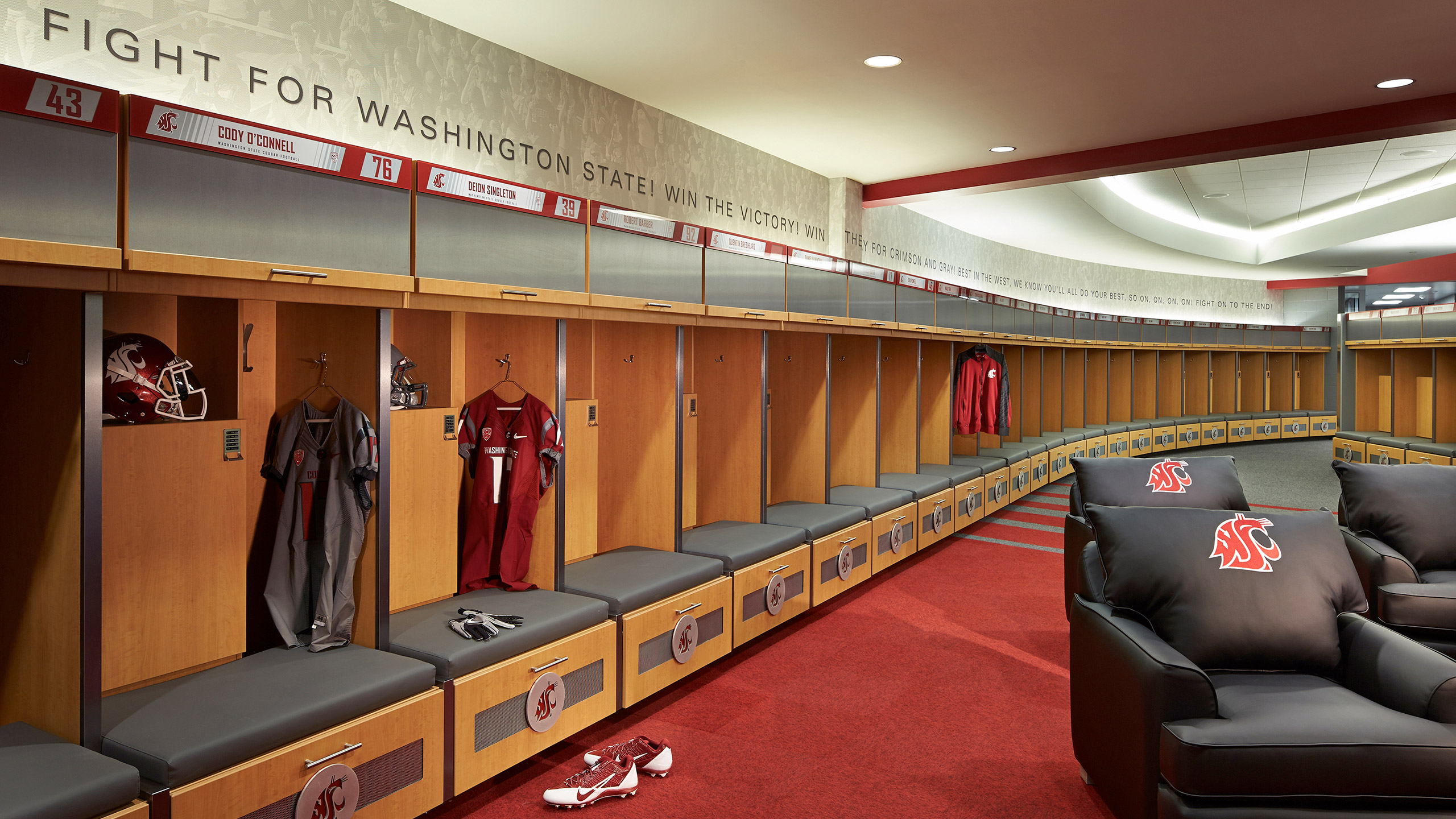 ALSC Architects WSUFootball Lockers2