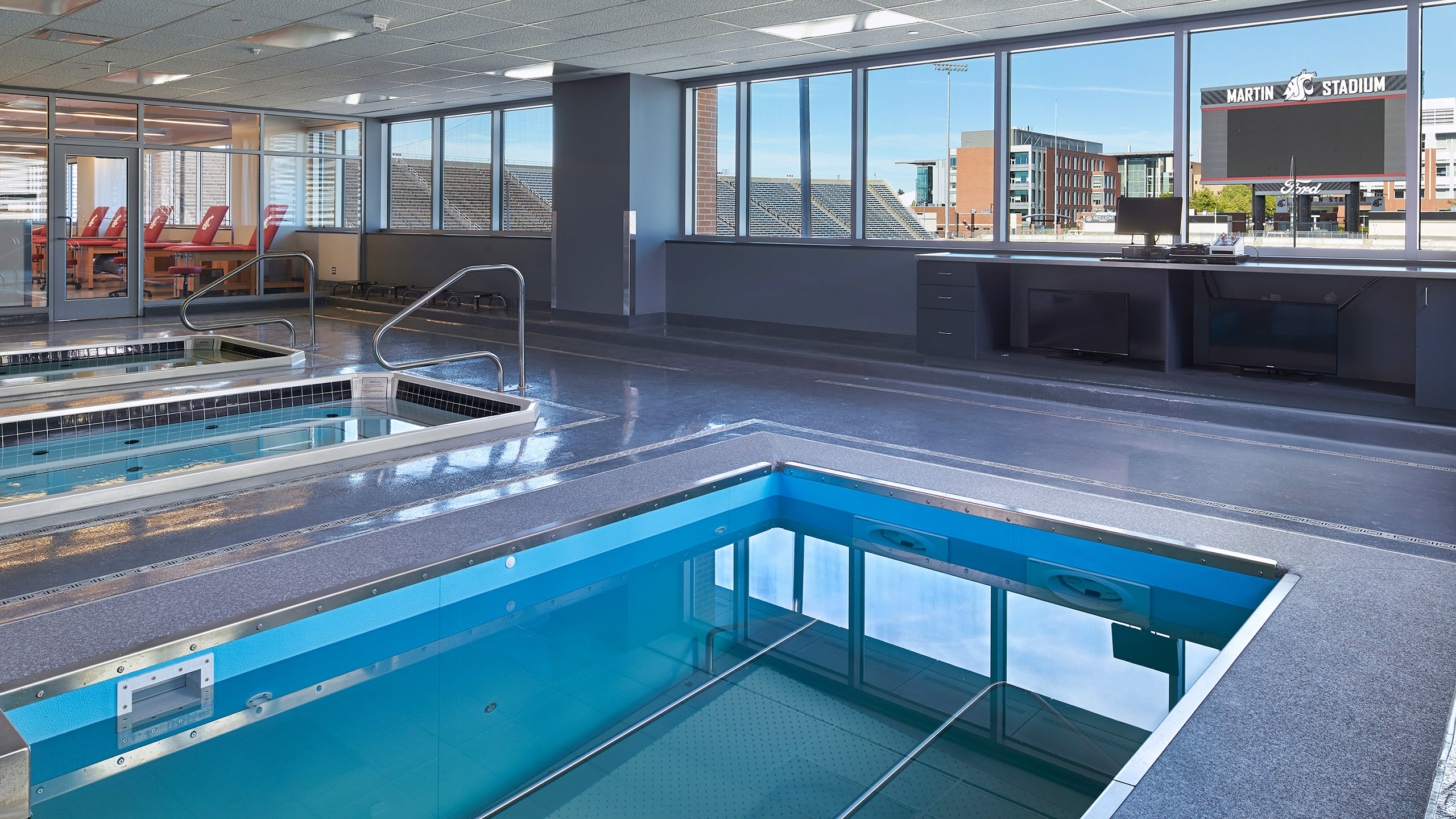 ALSC Architects WSUFootball TherapyPool